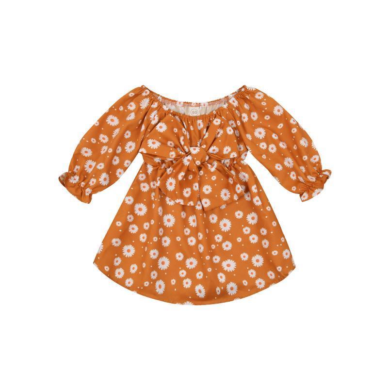 Mädchen Kleider 1-5Years Kinder Baby Mädchen Langarm Blumenkleid Prinzessin Mädchen Holiday Party Sommerkleid Kleidung