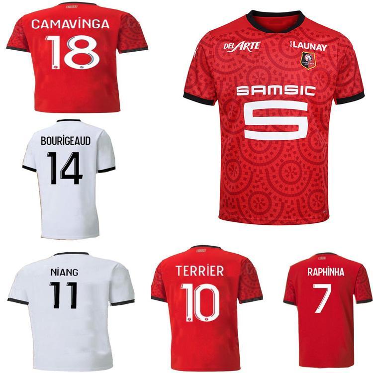 20 21stade Rennais Futebol Jerseys Rennes 2021 Camavinga Bourigeud Niang Doku Hunu Homens Futebol Camisas