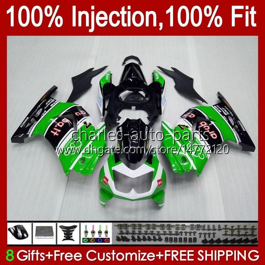 Injection pour Kawasaki Ninja Green Green Glossy ZX250R EX250 2008 2009 2011 2012 2012 13HC.86 EX250R ZX-250R ZX250 ZX 250R 08 09 10 11 12 Catériel
