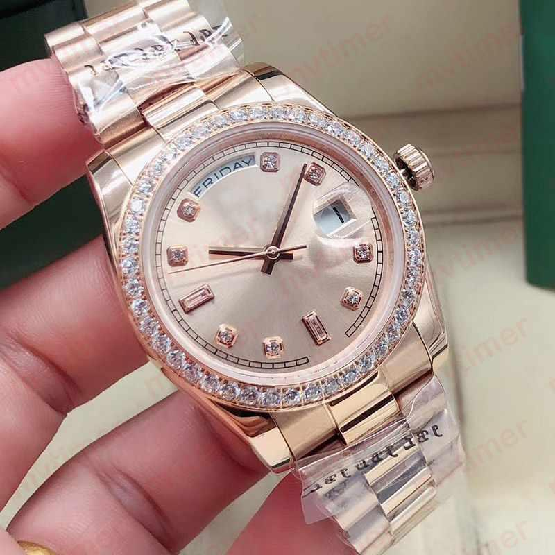 36mm 패션 로즈 골드 남성 자동 기계식 Jubilee 팔찌 디자이너 Womens 숙녀 망 시계 다이아몬드 시계 손목 시계 2021