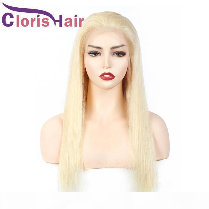 613 блондинка кружева фронт человеческих волос парик шелковистой прямой 13x4 закрытие неверный парик для черных женщин платиновая блондинка бразильский прямой фронтальный парик