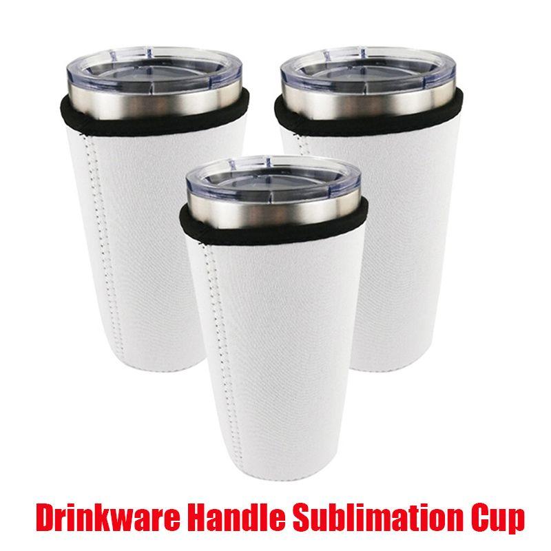 Tazas Tazas Tazas Sublimación En blanco Reutilizable 30 oz helado Café de Copa de Neopreno Mangas aisladas de Neopreno Bolsas Bolsas Handles para 20 oz 32 oz Vacúmeros Vaso