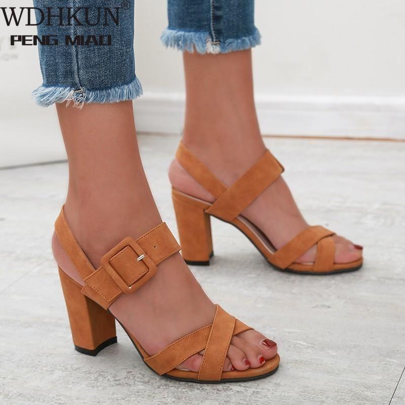 Сандалии гладиаторные женщины сандальные пряжки ремешок мода обувь на высоком каблуке женщина сандалиас мохеров 2021 летние дамы плюс размер 35-43