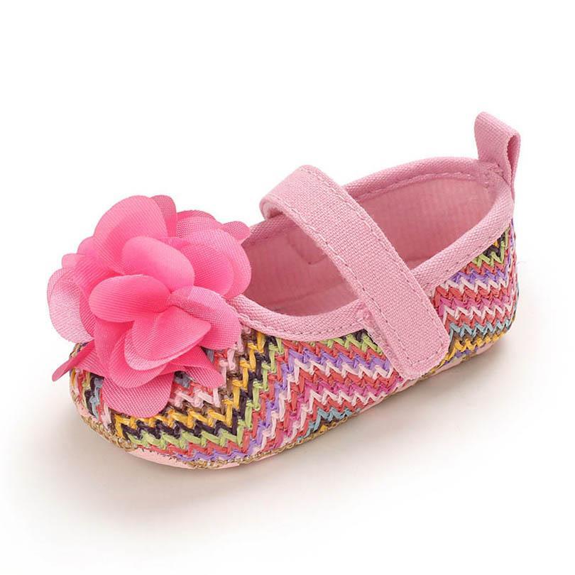 طفل الفتيات الأحذية زهرة 0-1T الوليد الأحذية الأميرة طفل أحذية الأخفاف لينة أول المشي الأحذية الطفل الأحذية B4091