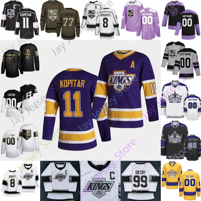 Los Angeles Kings Hockey Jersey Wayne Gretzky Drew Doughty Anze Kopitar Jonathan Quick Jeff Carter Dustin Brown Dionne Blake Taylor