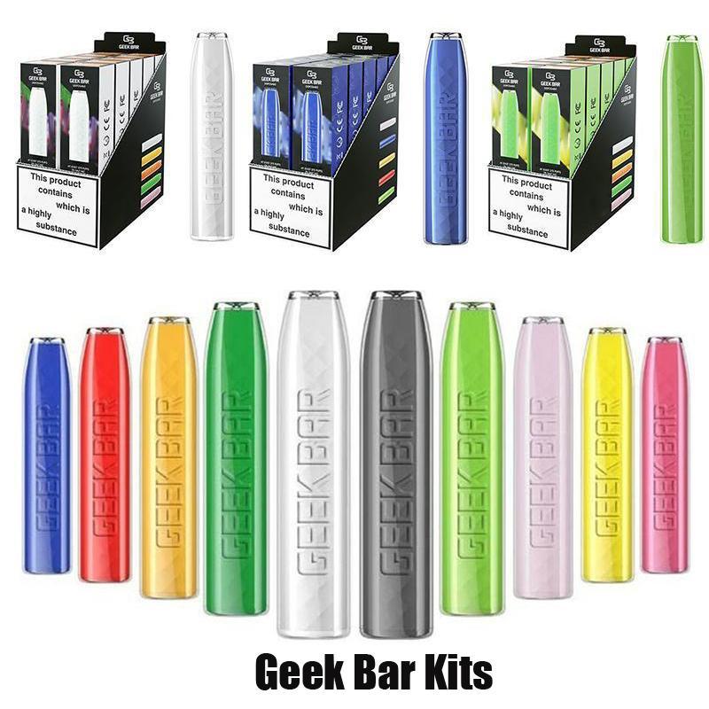 Geek Bar Tek Kullanımlık E-Sigaralar Pod Cihazı Kiti 575 Puffs 500 mAh Pil 2.4 ML Tercih Edilen Pods Kartuşları Sopa Vape Pen vs Plus XXL
