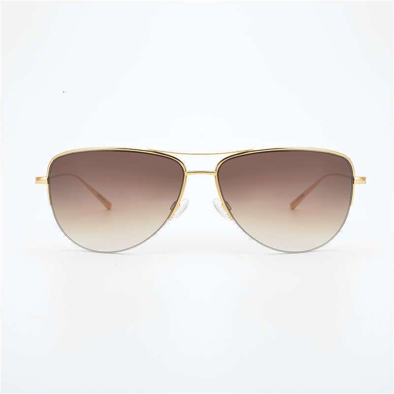 2021 Gafas de sol piloto de titanio puro Hombres Super Light 12G Unisex Brand Strummer Glasses Mujeres con Lense degradado NULL 21s