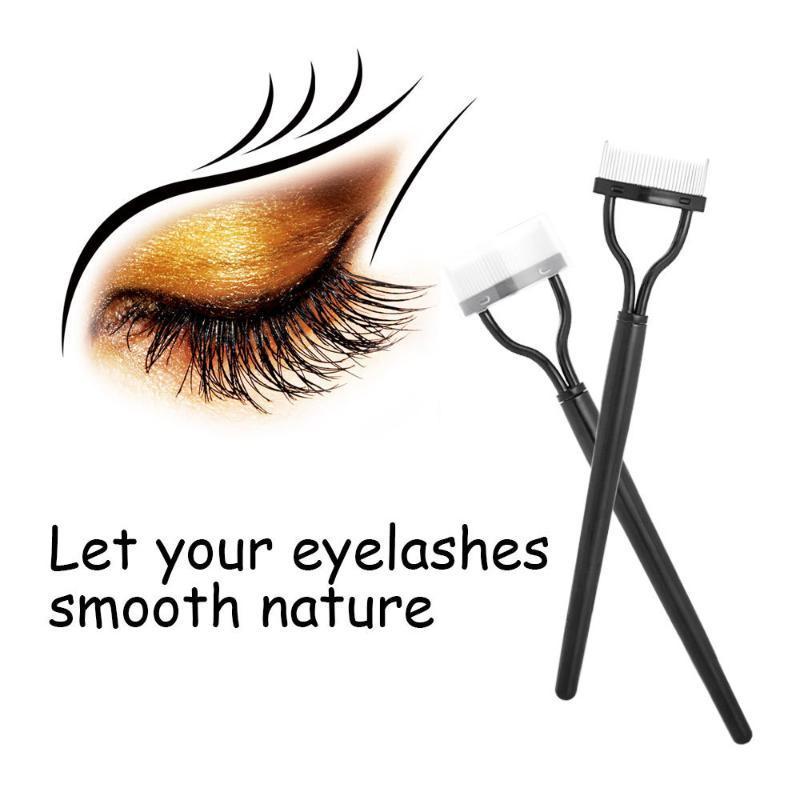 Makeup Brushes Eyelash Curler Beauty Lash Separator Foldable Metal Brush Comb Mascara Curl Cosmetic Tools