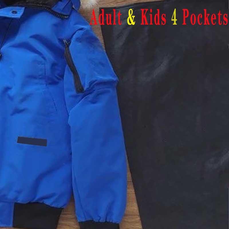 Baja chaqueta abrigos Parkas Hombres Mujeres Invierno Niños Chaquetas Abrigo Bebé Niño Chica Outerwear Warm Classic Letra Padre-Niño Goose Parker DownCoat 4 colores Moda
