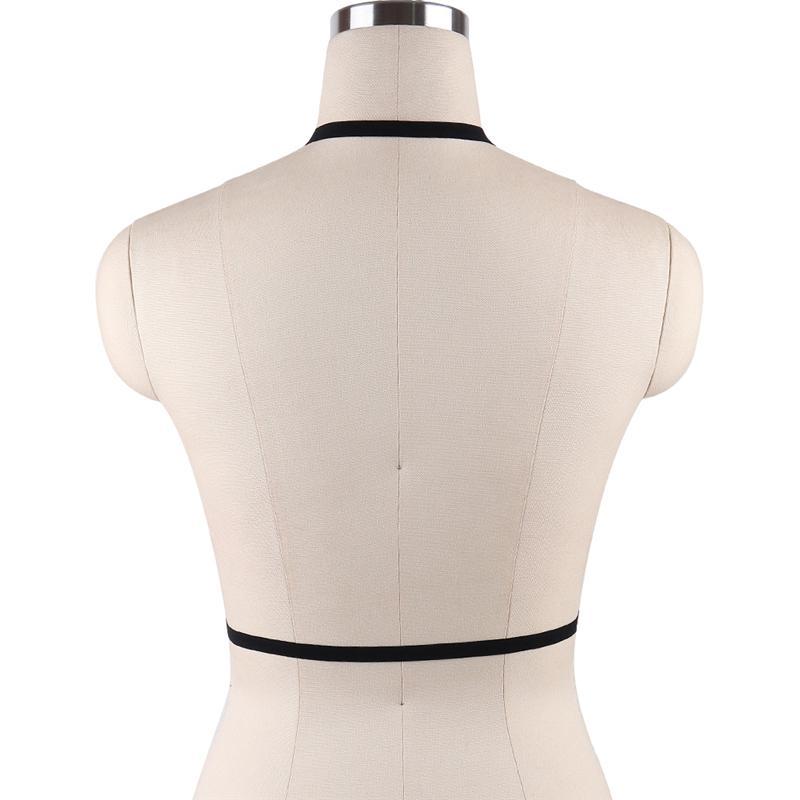 Bangdaerge Gothic Strappy Harness Bra 축제 의류 편안한 속옷 S0009