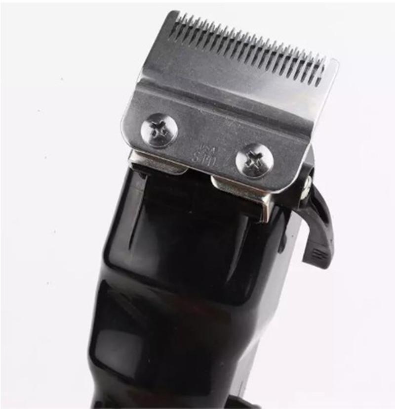 Üst Satıcı 8148 Sihirli Klip Metal Saç Kesme Elektrikli Razor Erkekler Çelik Kafa Tıraş Makinesi Saç Düzeltici Siyah Altın Kırmızı 2 Renk