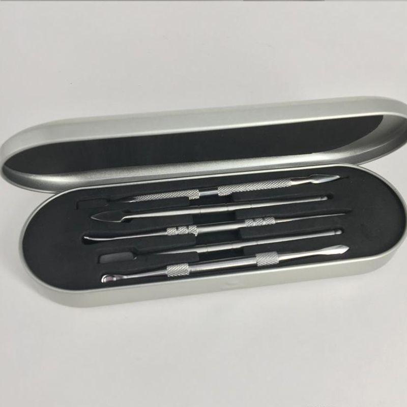 106-121mm DAB KIT STRUMENTO DAB Cera DABBER SET SET SCATOLA ALLUMINIO Imballaggio Atomizzatore VAX Atomizzatore Titanium Nail DABBER Strumento per la penna vaporizzatore di erba secca