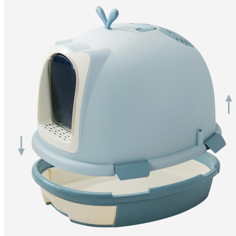 Diğer Kedi Malzemeleri Çöp Büyük Tamamen Kapalı Deodorant Yarı Kapalı Kutu Anti-Spark Tuvalet