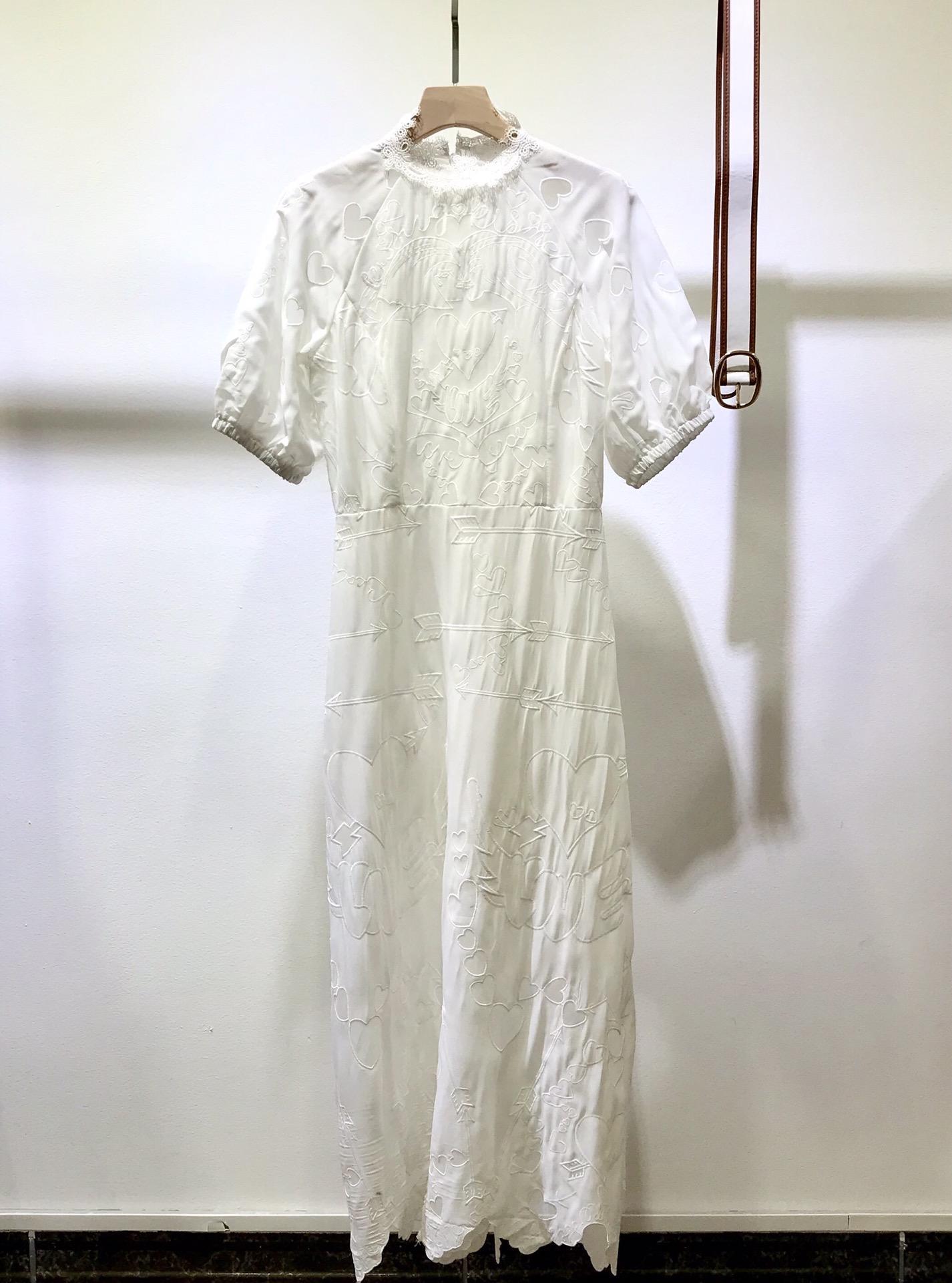 Milan pist elbise 2021 yeni ilkbahar yaz standı yaka kadın tasarımcı elbise markası aynı stil elbise 0301-29