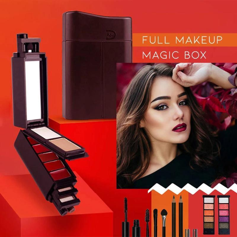 Ombre de paupières Palette Outop Eauts Palette 8-en-1 Magic Mini Maquillage Kit Mascara Lipstick Fashion Belle cosmétique 30ml