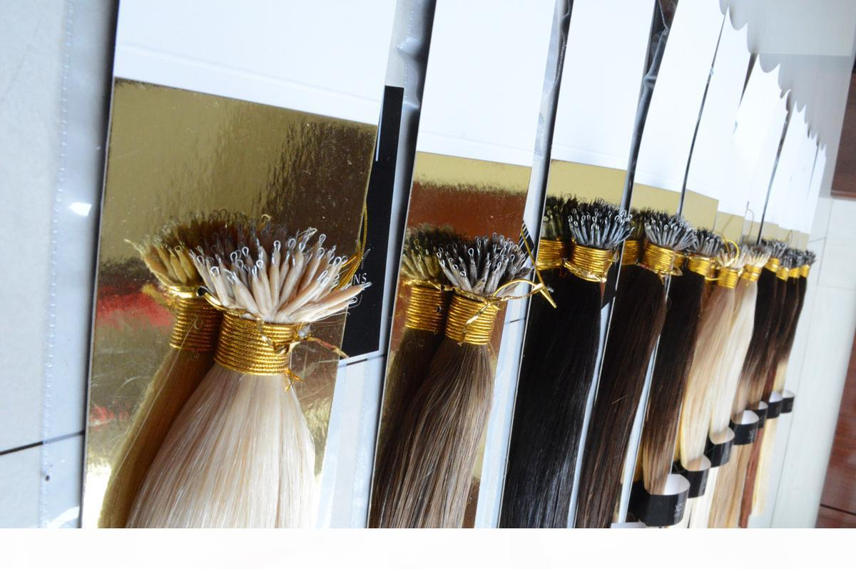 Nano Virgin Hair Extensions 6A 100beads Nano Rings Human Hair Extensions 18 20 inch 100gram pk Hair Extensions Nano Ring