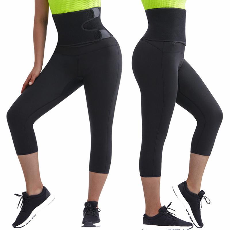 Женские формирователи Corset Secret Неопреновая сауна для похудения брюки для телосложения Тренажерная тренировка пота леггинсы талии тренажер