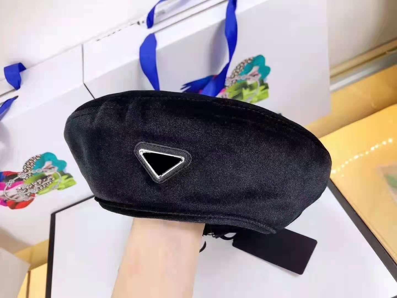 Модный дизайн Берет для женской классической буквы Tie-Dye Cashmere Hat Lady Outdoor Travel Теплый зимний ветрозащитный каникулы капуста
