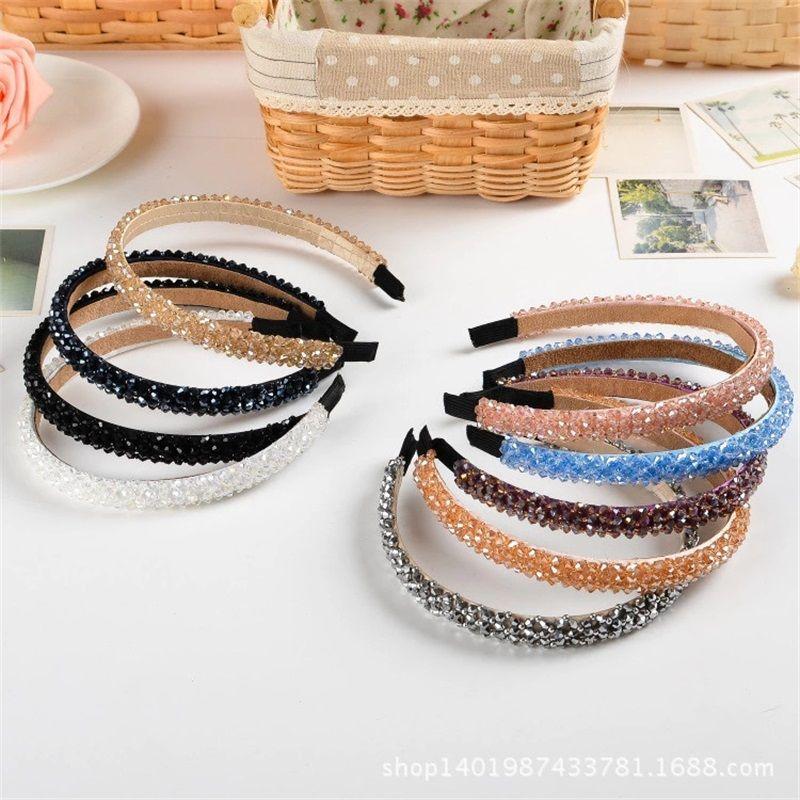 Band di cristallo di cristallo di cristallo di strass lucido per le donne Ragazza Capelli Capelli Moda Accessori per capelli Capelli Copricapo 12 Colori 281 U2