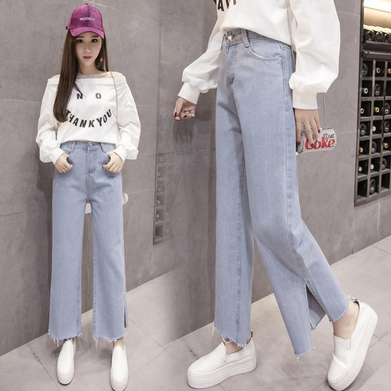 Versión coreana del vintage Denim Tobillo-Longitud Pantalones Mujeres Jeans Mujer Boyfriend Jeans Para Mujeres Mujeres