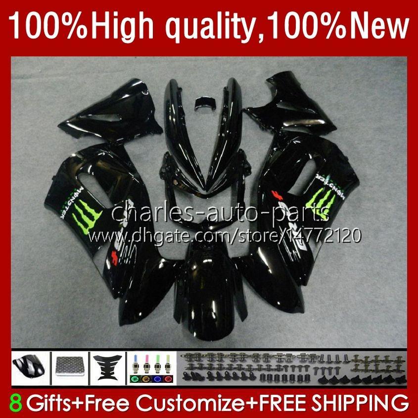 OEM هيكل السيارة ل Kawasaki Ninja ER 6 F 2006-2008 ER6 F 650 R 650R 06-08 الجسم 6NO.79 650R-ER6F ER-6F ER 6F 2006 2008 2008 2008 650-R ER6F 06 07 08 دراجة نارية Fairings Factrory Black