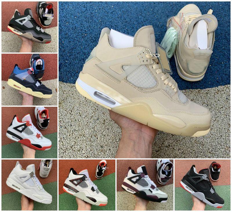 2021 جديد الأعلى كريم الشراع الأسود القط الأسمنت الأبيض الرجال النساء jumpman 4 4 ثانية الاتحاد كرة السلة أحذية الصبار جاك رجل المدربين الأحذية الرياضية size36-46