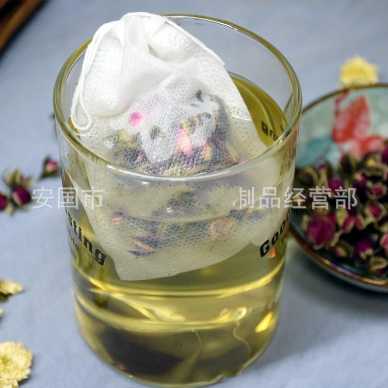 100 Pcs/Lot Tea Filter Bags Natural Unbleached Paper Tea Bag Disposable Tea Infuser Empty Bag with Drawstring Bags 734 K2