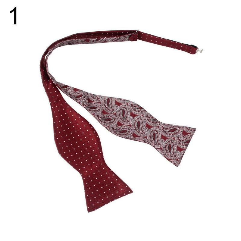 Yay bağları erkekler ayarlanabilir öz kravat boyunbağı iş düğün parti malzemeleri