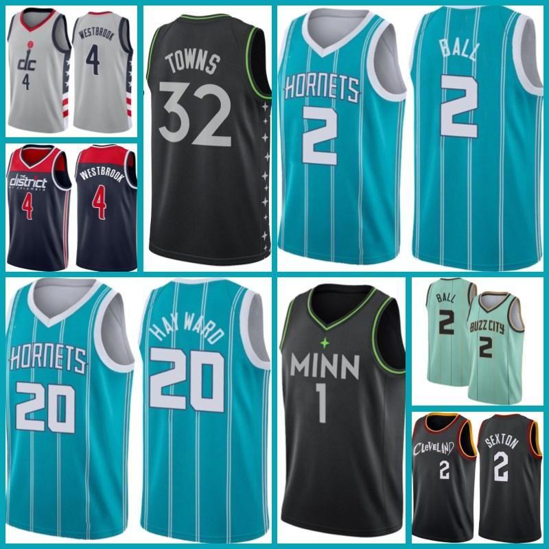 Washington.MagosJersey Russell 4 Westbrook MinnesotaTimberwolves.Jersey Anthony 1 Edwards Collin 2 Sexton Basketball AA