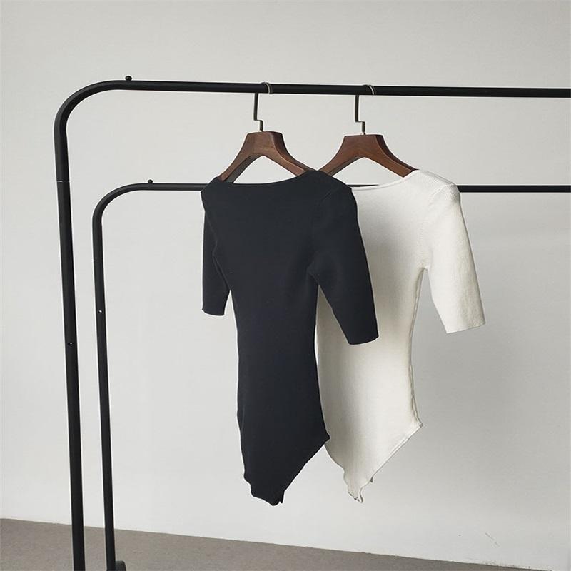 Mulheres manga curta bandagem bodysuit leotard tops blusa t-shirt macacão macacão 392 y2