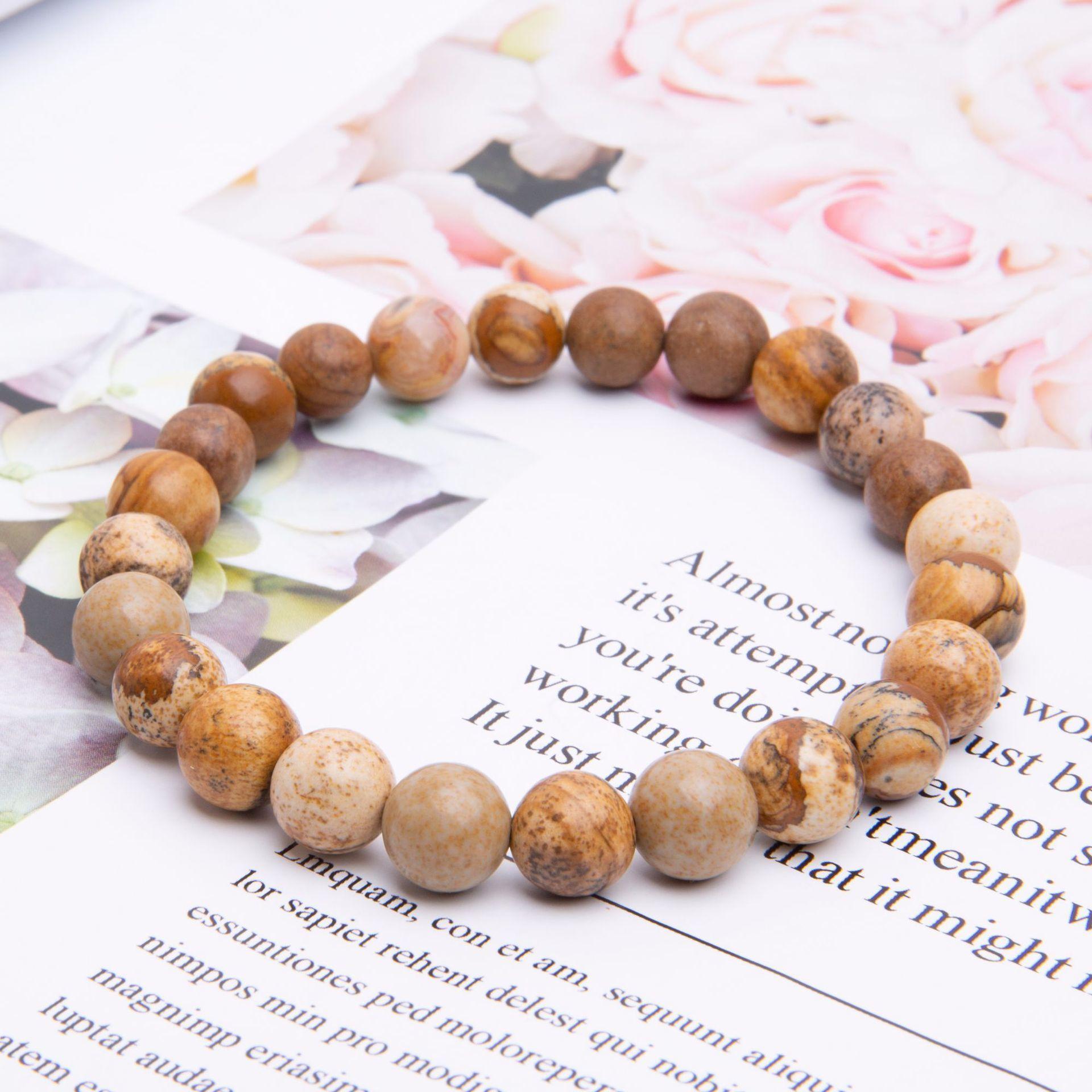 Ювелирные изделия Новый стиль фото Камень ручной работы бисером браслет мода йога энергия мужская рука ювелирных изделий