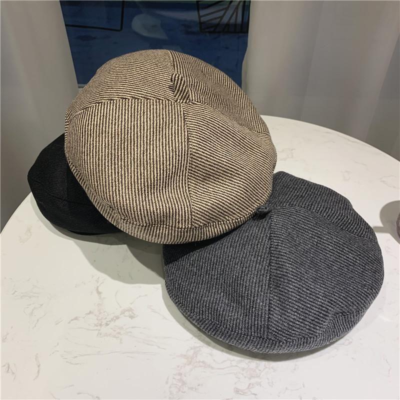 قبعة / جمجمة قبعات البريطانية مخطط الأصلي اليابانية الخريف / الشتاء woolpumpkin قبعة الرسام
