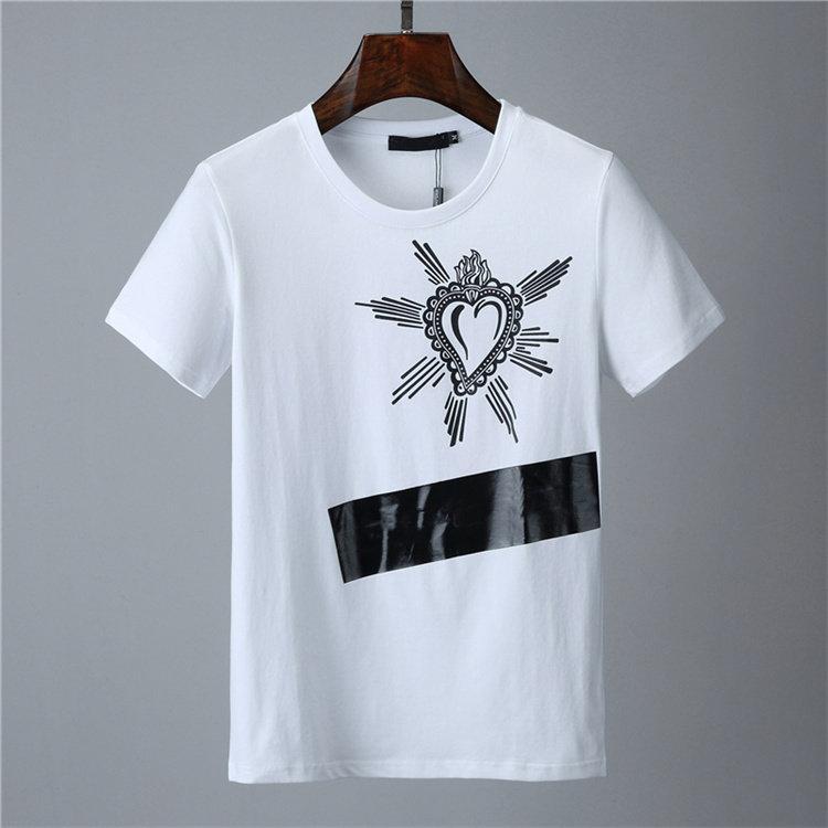 2021 패션 디자이너 망 티셔츠 # 002 유럽 밀란 여름 반팔 크라운 킹 탑 클래식 로얄 스트리트웨어 캐주얼 남성 티셔츠