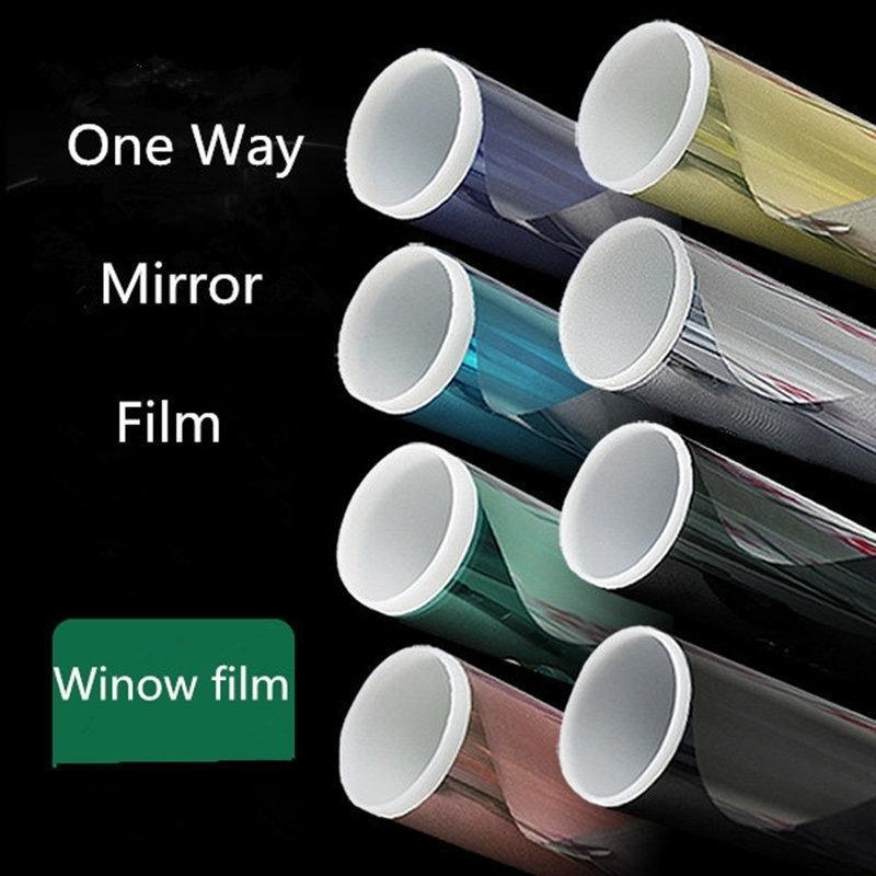 50cmx300cm Heat Reduction Window Film Solar Tint Reflective One way Mirror sun block Glass Sticker Y200421