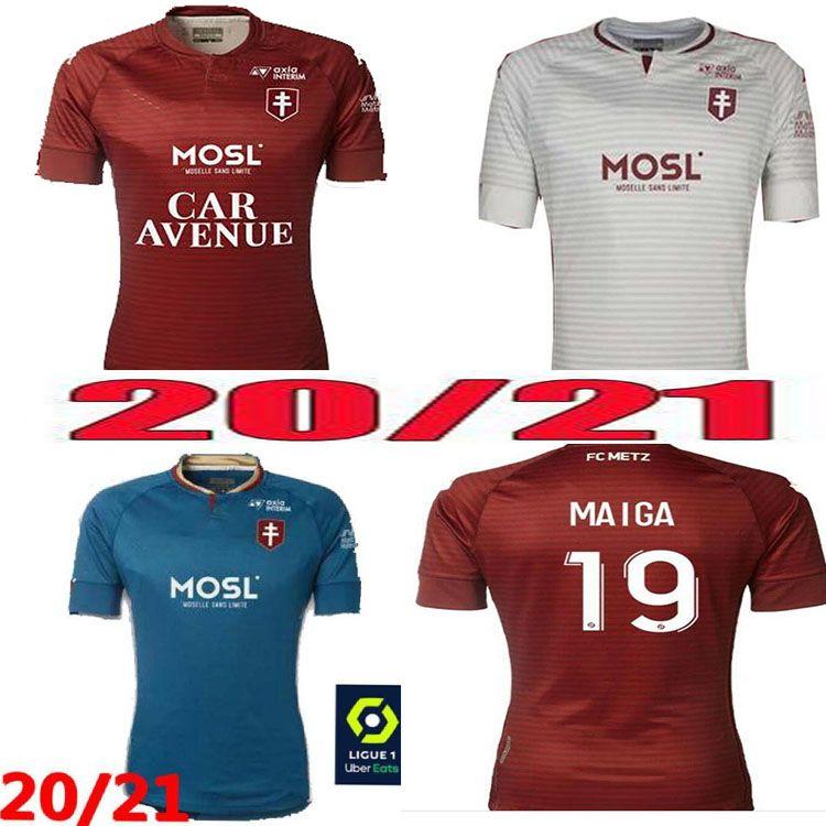 20 21 Metz Futebol Jerseys FC Diallo Centonze 18 Vagner 27 Niane 7 Fofana 2021 Jersey Adulto