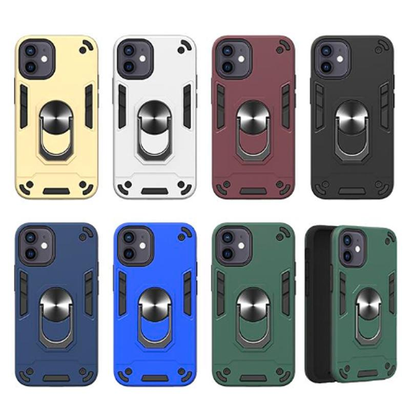 360 Kickstand Hybrid Cases for iphone 13 pro max 11 12 mini XS XR 6G 7G 8G Shockproof Car Holder Magnetic Ring Cove