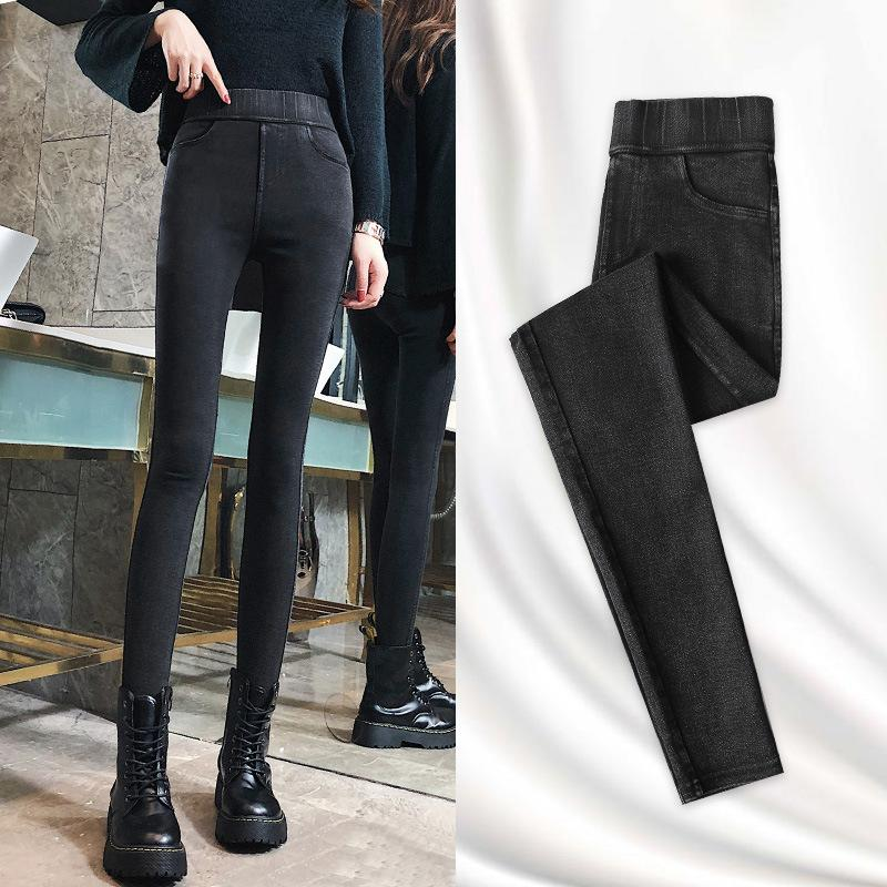 Magic Black Leggings Women's Primavera y otoño Pantalones de invierno 2021 Nueva cintura alta delgada