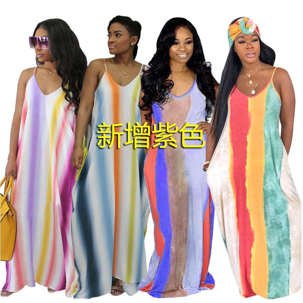 S3297 2020 Sommer Digital Print Beach Kleid