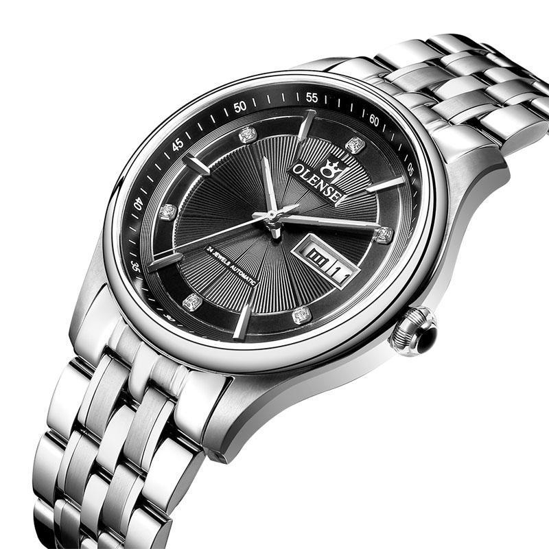 Armbanduhren luxus mechanische männer beobachten volle kalender kristall wasserdichte automatische armbanduhren gold männlich kleid uhr relogio masculino