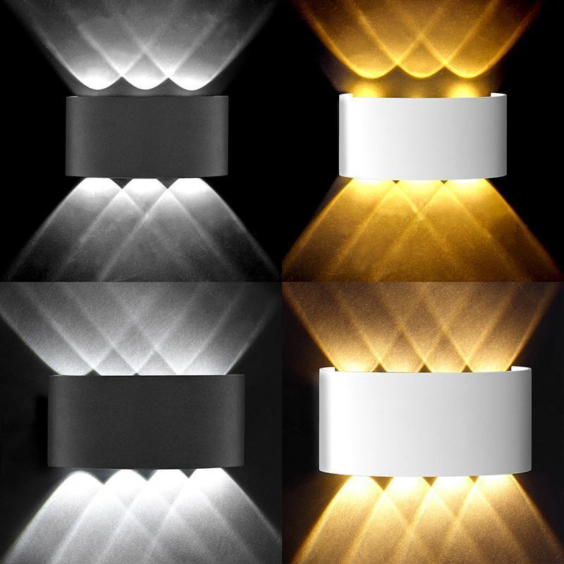 Outdoor Wall Lamps Modern Led Lamp Waterproof IP65 110V 220V 2W 4W 6W 8W Sconces Indoor Stair Bedside Light Garden Street 4