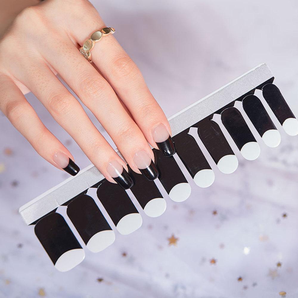 Klassische schwarze französische Nagelaufkleber mit gut dauerhafter Klebrigkeit, hochwertiger und umweltfreundlicher Nagelaufkleber