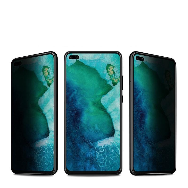 Anti-Spy Privacy Volledige Cover Gehard Glas Protector Zijde Gedrukt voor Xiaomi 11 Lite Redmi Note 10 PRO 100 stks / partij Simple Opp