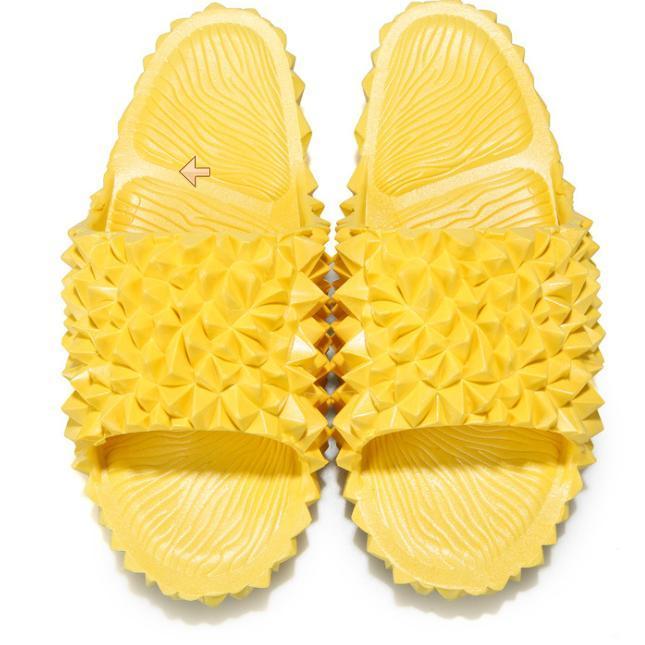 Летние Женщины Тапочки Мода Смешные Обувь Дуриан для женщин Повседневная Твердые Женские Тапочки Флаппы Шлепанцы Открытый Пляж Слегки Сандалии