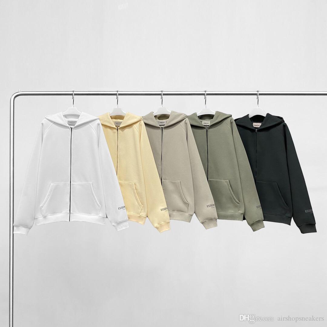 Wesentliche Kapuzenshirt mit Kapuze Hoodies Street Mode Streetwear Pullover Herren Womens Sweatshirts Lose Liebhaber Tops Kleidung
