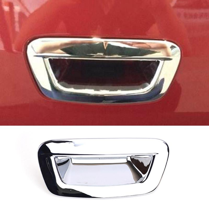 لبيك Encore Opel / Vauxhall Mokka × 2013 2014 2015 2016 2017 2018 كروم الخلفية جذع الباب الخلفي الباب مقبض غطاء قبض غطاء تقليم