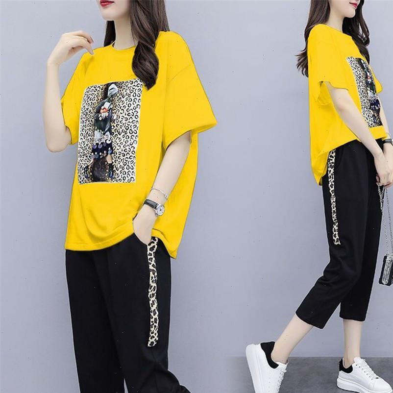 Black White Tracksuits 2 Piece Set Women Pant and Top Outfit Sportswear Fitness Co ord Set Plus Size 2021 Summer Clothing