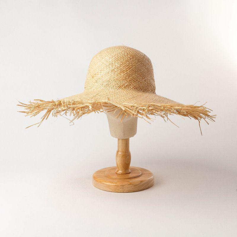 Sombrero de verano Sombrero Hueco Top Playa Tejido Wnti ultravioleta
