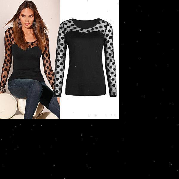 autumn winter NEW Sexy Womens Fashion Long Sleeve Tops Polka Dots Casual Loose Blouse Shirt