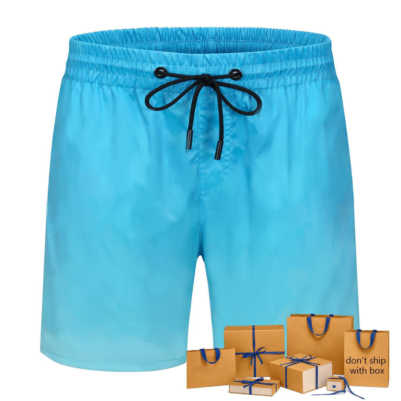 Men Fashion Board Shorts Active Beach Wear Men's Swimwear Ins Hot Breathable Casual Letter Pattern Gradient Sweatshorts