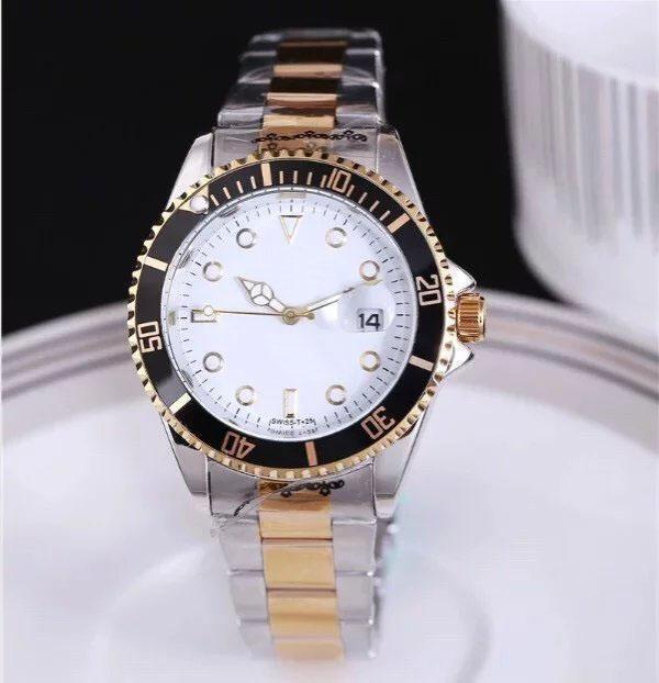 2021 HOT Automatique Date Hommes Gold Montre Mode de Luxe Hommes et Femmes Steel Steel Band Mouvement Horloge Gold Silver Loisirs Montre-Bracelet